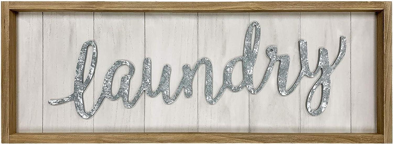 Large Vintage Easy-to-use Wood Laundry Superlatite Sign 3D Fram Brown Word