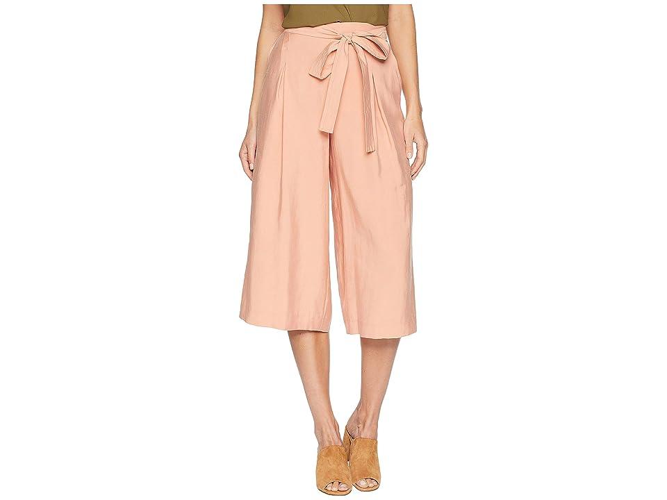BCBGMAXAZRIA Self Belted Culotte Pants (Blush) Women