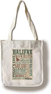 Lantern Press Halifax, Nova Scotia - Sailing Capital - Typography 100332 (100% Cotton Tote Bag - Reusable)