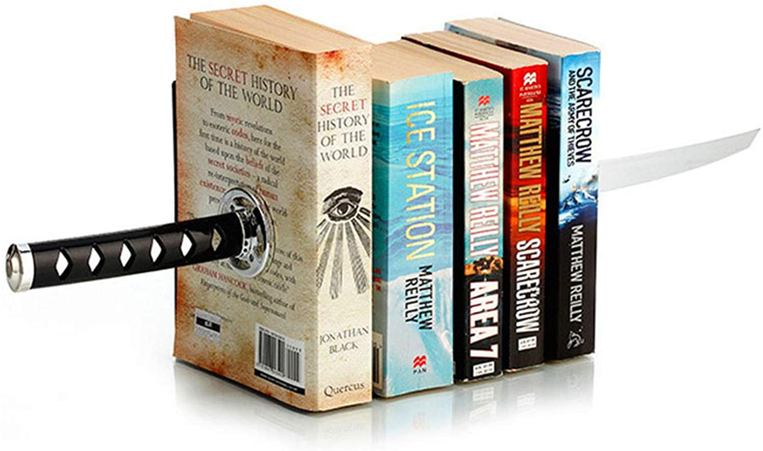 ZWCIBN Easy-to-use Ranking integrated 1st place Book Ends Decorative Modern Funny Unique DVD Black Metal
