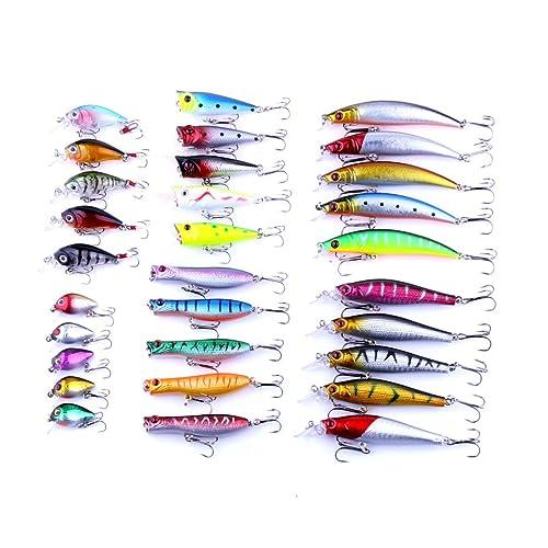 BNTTEAM señuelos de pesca conjunto de cebos inestables Mini Crankbait cebo de señuelo artificial 3D ojo