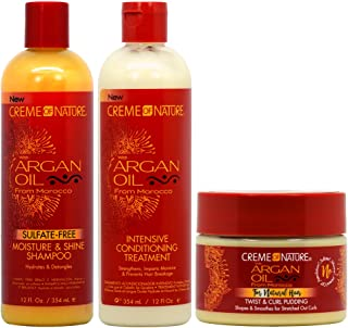 Creme of Nature Argan Oil Moisture Shampoo + Intensive Treatment + Twist and Curl Pudding