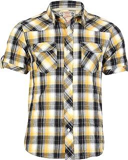 Tokyo Laundry - Camiseta de tirantes - con botones - Manga corta - para hombre