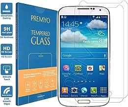 PREMYO 2 Piezas Cristal Templado Protector de Pantalla Compatible con Samsung Galaxy S4 Mini Dureza 9H Bordes 2,5D Sin Burbujas contra Arañazos