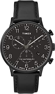 Timex Men's Waterbury Classic Chronograph 40mm Leather Strap Watch