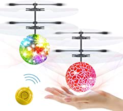 Slepwel Flying Ball Kids Toys RC Infrared Induction UFO Helicopter Airplane Shining Colorful Rechargeable Flying Drone wit...