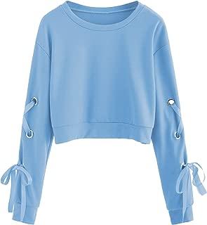 blue crop top sweater