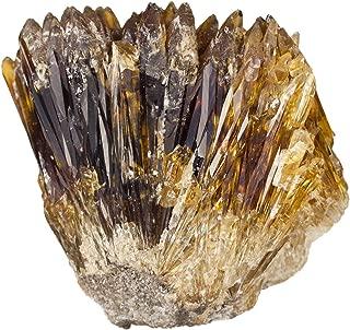 mookaitedecor Natural Raw Amber Calcite Crystal Cluster Geode Stone Mineral Specimen Gemstone for Reiki Healing Home Decoration(0.22-0.33 lb)