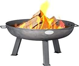 Harbour Housewares Cast Iron Fire Pit   Outdoor Garden Patio Heater Camping Bowl for Wood, Charcoal - 75cm Diameter