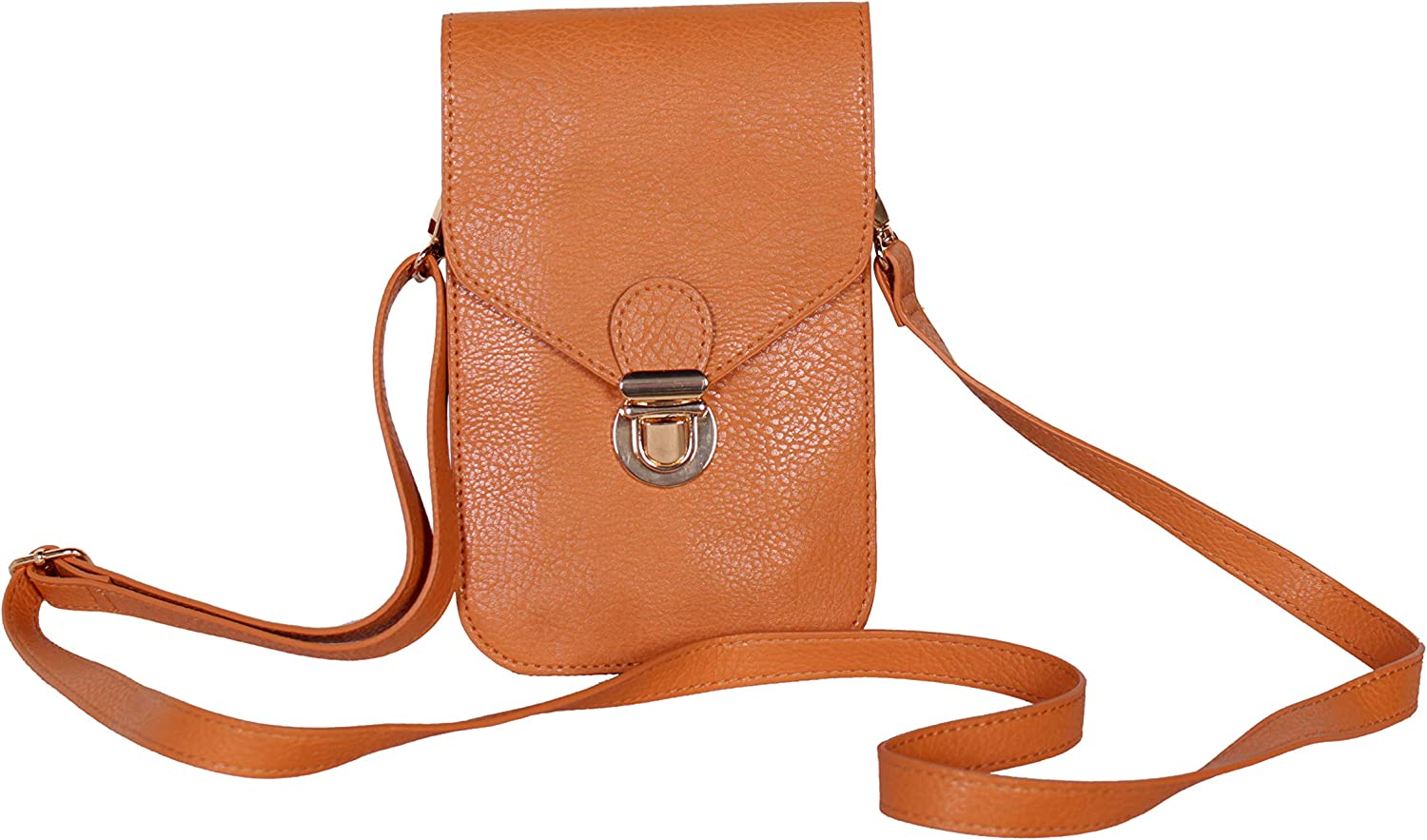 Pro-tection Phone Purse, Small Crossbody Shoulder Leather Bag with Strap and Soft Touch Screen For Women