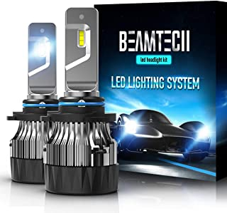 BEAMTECH 9006 LED Headlight Bulbs,30mm Heatsink Base CSP Chips 10000 Lumens HB4 6500K Xenon White Extremely Super Bright Conversion Kit of 2