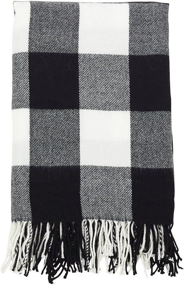 Fennco Styles Buffalo Plaid Collection Modern 60 Gorgeous Inc 50 SALENEW very popular! Tassel x