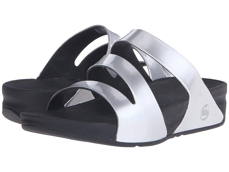FitFlop Superjelly Twist Metallic (Silver Mirror) Women