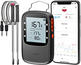 Govee Bluetooth Meat Thermometer, Smart Grill Thermometer, 230ft Remote Monitor, Large Backlite Screen, Alarm Notification for Smoker BBQ Oven Kitchen Candy