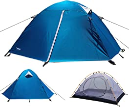 Luxe Tempo 2 Person Tents for Camping Backpacking 3-4 Season 2 Doors 2 Vestibules Blue