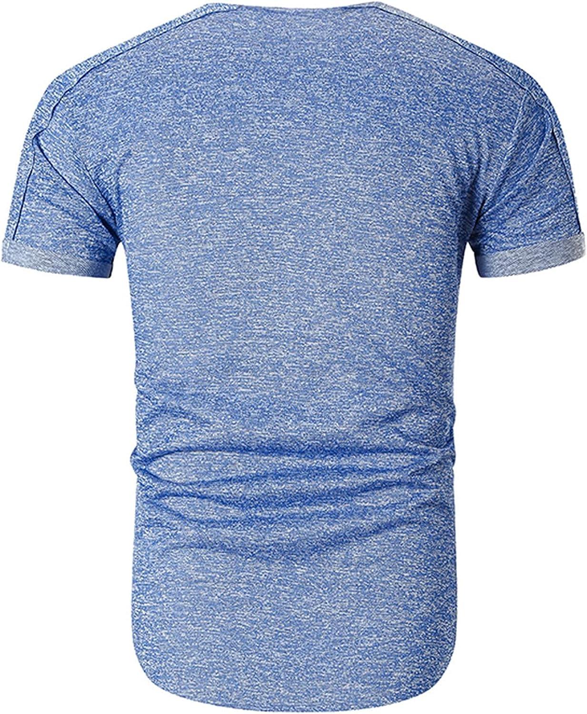 FUNEY Men's Muscle T-Shirt Raglan Short Sleeve Crewneck Bodybuilding Gym Tees Fashion Plain Workout Shirts Hipster Shirt
