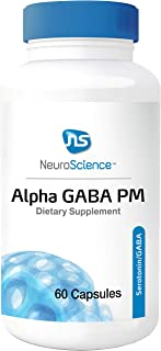 NeuroScience Alpha GABA PM - Sleep Aid with High Dose L-Theanine (400 Milligrams), Melatonin and Valerian (60 Capsules)