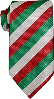 Remo Sartori - Cravatta Tricolore Bandiera Italiana in Seta Ideale per Fiere Convention Eventi, Made In Italy, Uomo