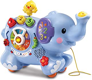 VTech VT80-505803 Pull & Discover Activity Elephant Toy - Blue