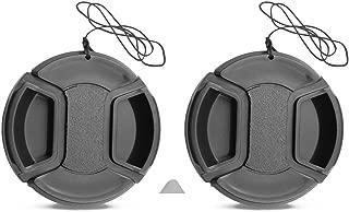 2 Pack 52mm Center Pinch Lens Cap for Nikon D5500 D5200 D3200 NIKKOR AF-S DX 18-55mm Lens / Canon m3 m5 m10 EF-M 18-55mm 55-200mm Lens /Sigma 30mm F1.4 Contemporary DC DN Lens
