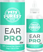 Pets Purest Dog Ear Cleaner (250ml) Stop Itching, Head Shaking & Smell - 100% Natural Cruelty Free - Anti Fungal Mite Repellent Formula Itching, Gunk & Ear Odour Gone In 2-3 Days For Dogs, Cats & Pets