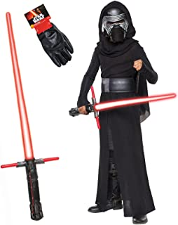 Star Wars Kylo Ren Costume Bundle - Deluxe Child Medium Costume and Accessories Black