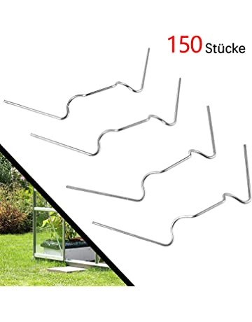 Wifehelper 50PCS White Greenhouse Garden Buildings Frame Pipe Tube and Film Clip Clamp Connector Kit Garden Tool 8CM