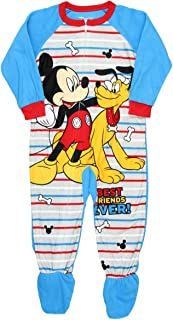 c66a5eed27 Disney Mickey Mouse Pluto Best Friends Footed Pajama Blanket Sleeper Little  Boys by AME