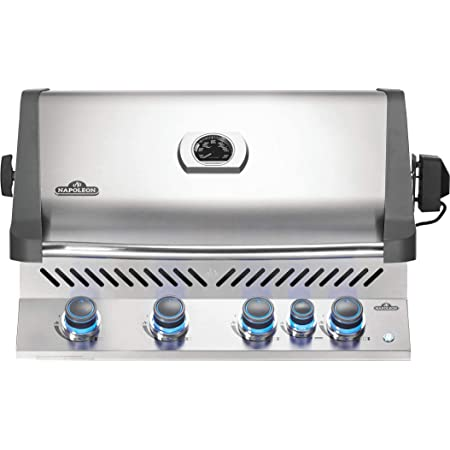 Napoleon BIP500RBPSS-3 Built-in Prestige 500 RB Propane Gas Grill Head, sq.in. + Infrared and Rear Burners, Stainless Steel