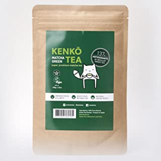 Matcha Green Tea Powder - Premium Japanese by Kenko Tea (Ceremonial Grade 100g)