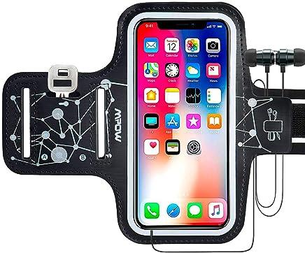Mpow Brassard Sport Compatible avec Huawei P9/Lite P8/P8 Lite, IPhone5/6/6s/7/8/X,GalaxyS5/S6/S7 Edge etc jusqu'à 5,3 Pouces. Anti-Sueur, Bande Elastique et Stable