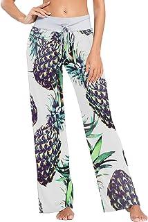 XiangHeFu Pantaloni Pigiama da Donna, Pantaloni da Yoga, Leggings Inferiori, Pantaloni da Salotto a Vita Alta, Estate all'...