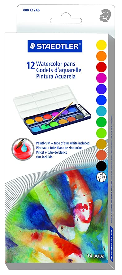 Staedtler 888 C12A6 Watercolor Pans Set 12pc