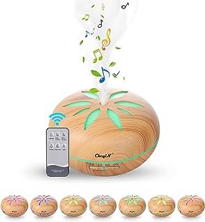 550ML Diffuseur d'huile Essentielle/Humidificateur,Bluetooth Diffuseur d'aromathérapie de Musique- Avec Télécommande Pour ...