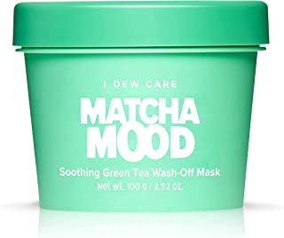 I DEW CARE Matcha Mood | Soothing Green Tea Wash-Off Face Mask | Gifts for women who has everything | Korean Skincare, Fac...