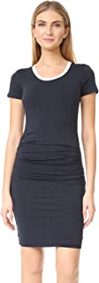Women's Lux Gauze Side Ruched Ringer Tee Dress