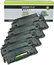 GREENCYCLE High-Yield 55A CE255A Toner Cartridge Replacement Compatible for HP Laserjet P3010 P3011 P3015 P3015d P3015x P3016 M521dn M525dn M525f M525c, Page Yield Up to 10000 Pages (Black, 4 Pack)