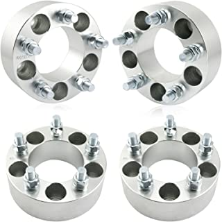 OrionMotorTech 5x4.5 Wheel Spacers 2 inches with 1/2-20 Studs, Compatible with Ford Ranger Explorer 94-14 Mustang, Jeep Wrangler TJ Liberty KJ KK Grand Cherokee ZJ, 4pcs