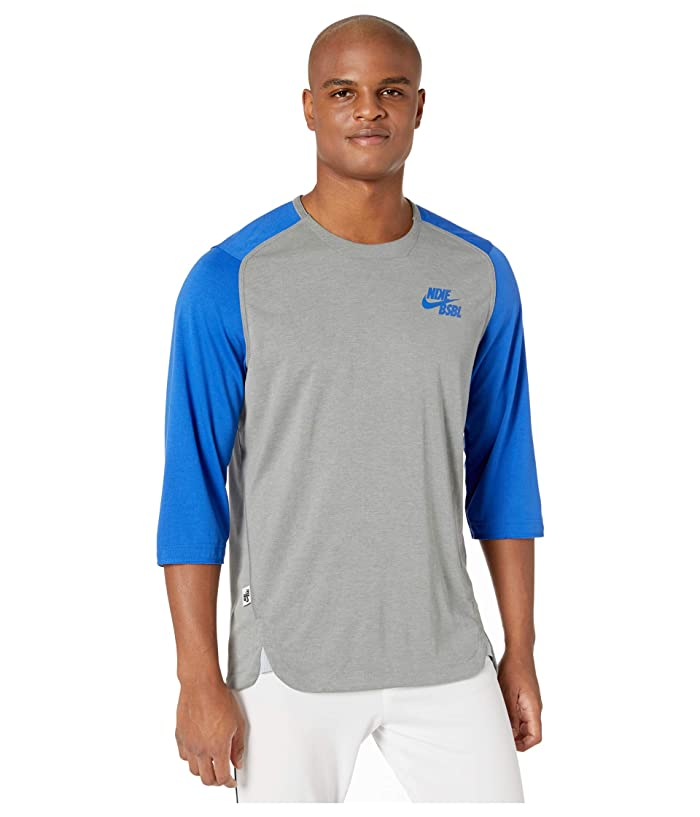 Nike  3/4 Flux Top (Team Royal/Dark Grey Heather/Game Royal) Mens Clothing