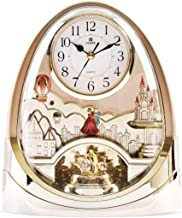 POWER Crystal Rotating Pendulum Table Clock with Music (Gold)