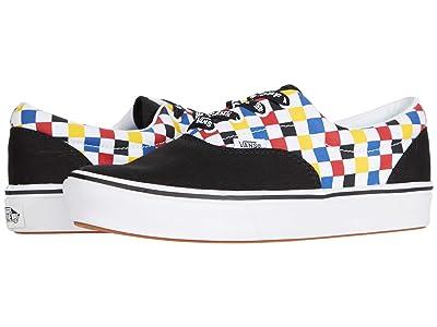 Vans Kids ComfyCush Era (Big Kid) ((Checkerboard) Multi/Black) Boy