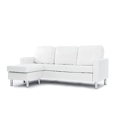 White Sectional Sofas: Amazon.com
