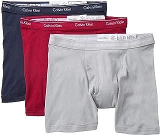 Men`s Cotton Classic Fit Boxer Briefs, 3 Pack