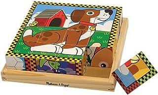 Melissa & Doug Puzzle Rompecabezas de Cubos de Madera