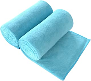 "JML Bath Towel, Microfiber Towel Sets 2 Pack (30"" x 60"") - Large Size, Extra Absorbent, Quick Drying, Multipurpose Use as Bath Fitness Towel, Sports Towels, Yoga Towel, Aquamarine"