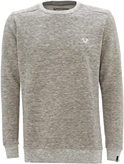 True Religion Mens Horseshoe Logo Crewneck Sweatshirt