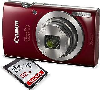 Canon PowerShot ELPH 180 Digital Camera (Red) w/ 32GB SD...