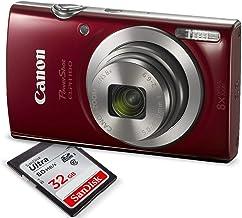 Canon PowerShot ELPH 180 Cámara digital (rojo) con tarjeta SD de 32 GB