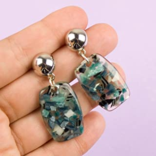 Drop Earrings Terrazzo Resin Stud Jewelry Gifts for Women