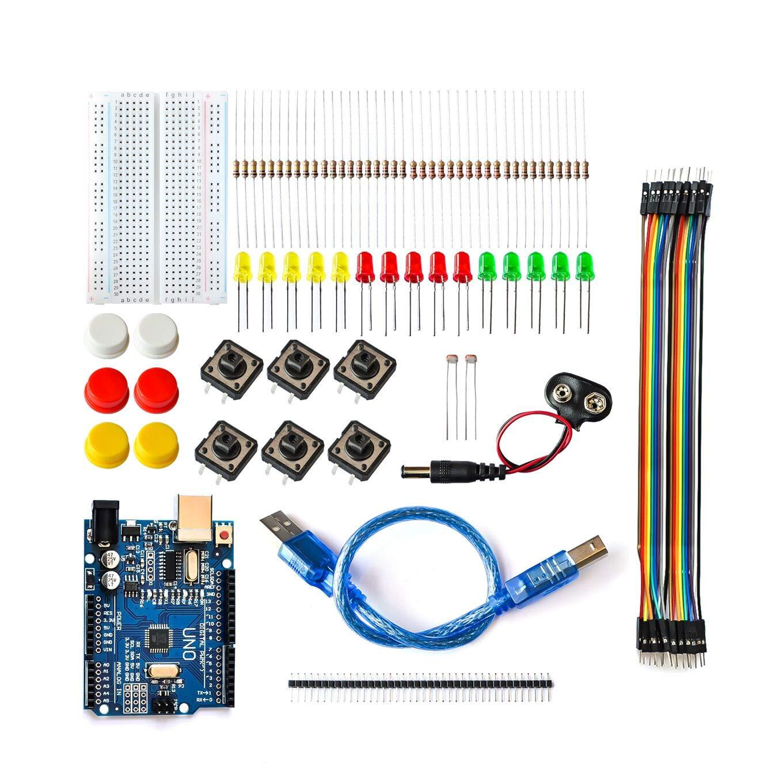 Nuevo Starter Kit UNO R3 para arduino mini Breadboard LED jumper cable botón compatible: Amazon.es: Bricolaje y herramientas